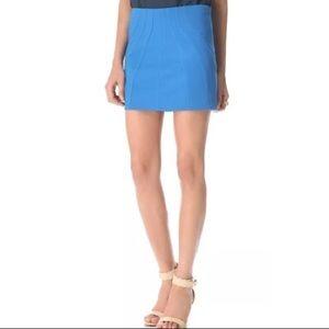 DVF Cameroon stretch mini skirt 2 Electric Blue